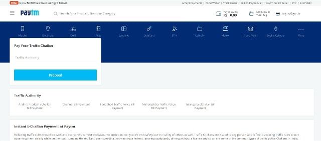 Online E Challan Payment