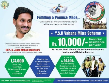 Vahana Mitra Scheme List 2019 Auto, Taxi Driver Beneficiaries List