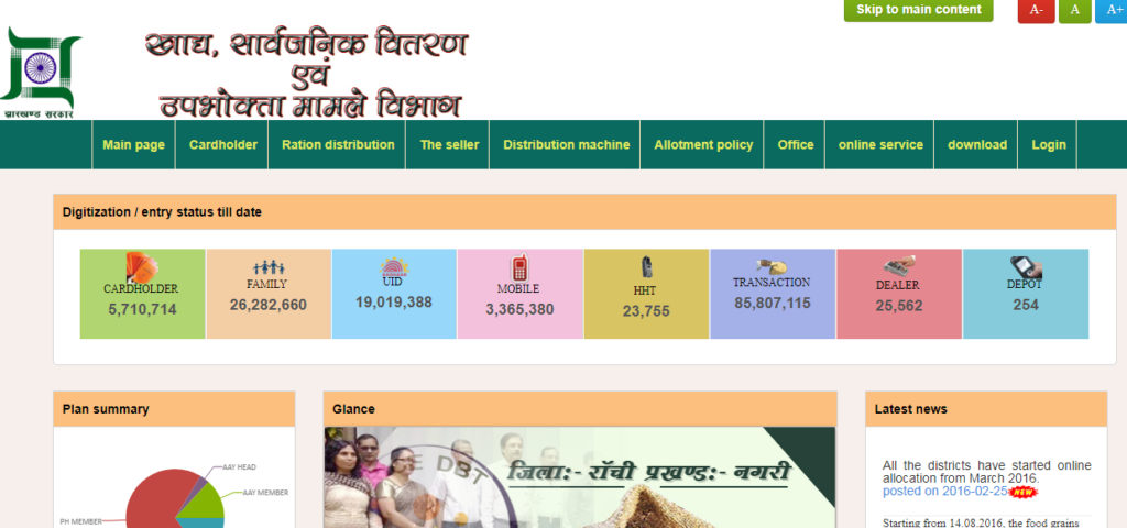 Jharkhand New Ration Card