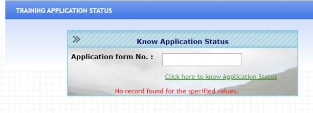 Status & List Haryana Roadways Driver Training Application