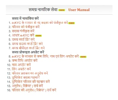 MP Samagra  Portal