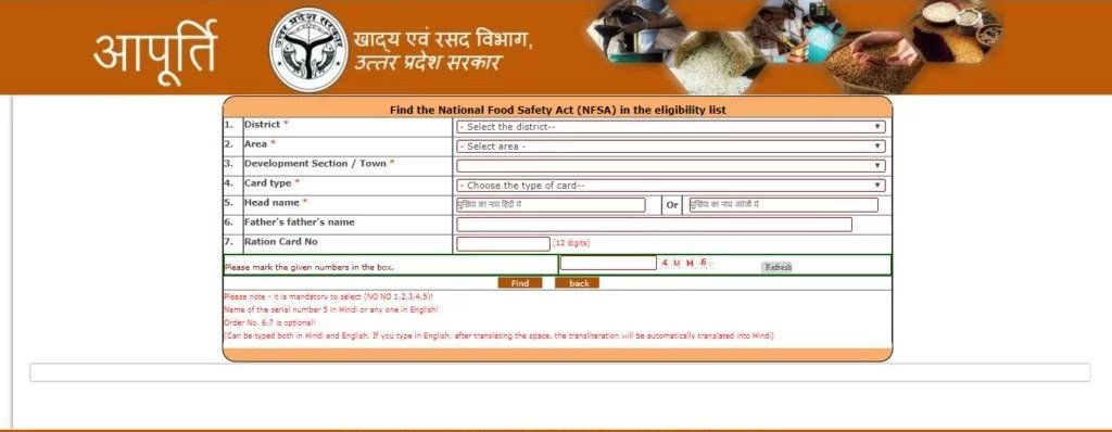 Ration Card List