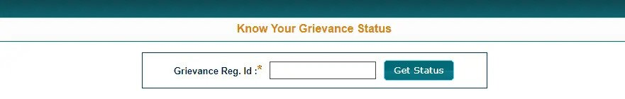 Know Your Grievance Status