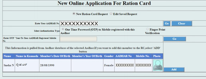 New application Form